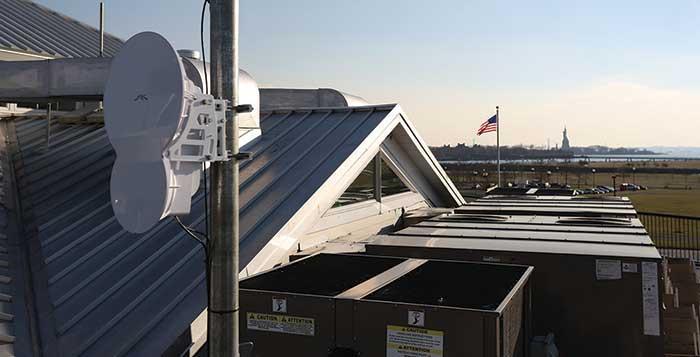 airFiber radio at Maritime Parc, New Jersey