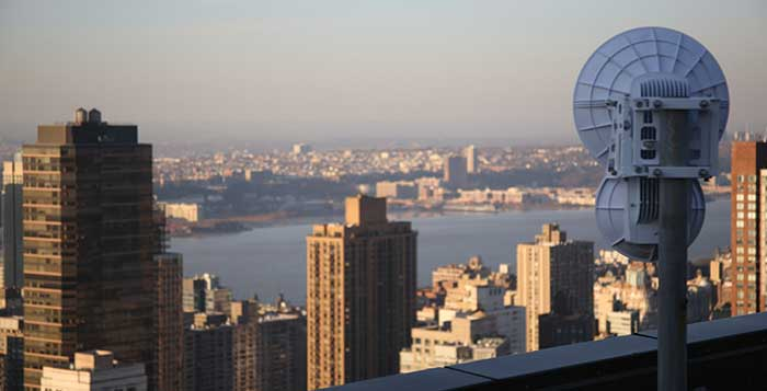 airFiber radio at Trump International, New York (planned link)